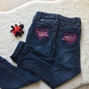 Jordache Embroidered Girls Skinny Jeans Size 5